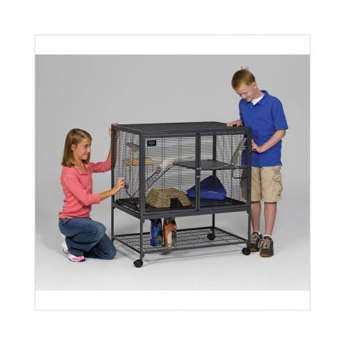 Midwest Critter Nation Single Level Pet Pen Gray 36