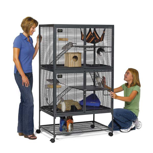 Midwest Critter Nation Double Level Pet Pen Gray 36