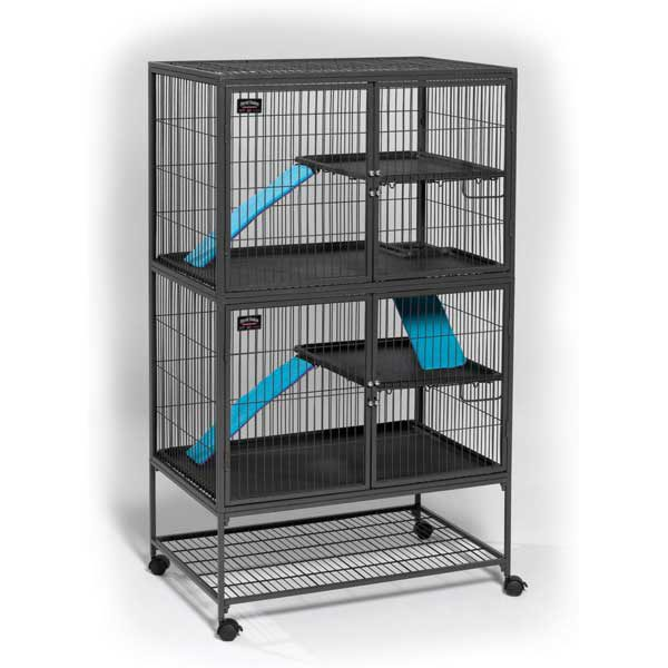 Midwest Ferret Nation Double Unit Cage Gray 36