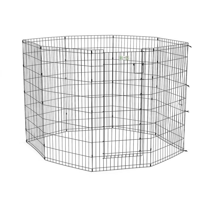 Midwest Life Stages Pet Exercise Pen with Door 8 Panels Black 24