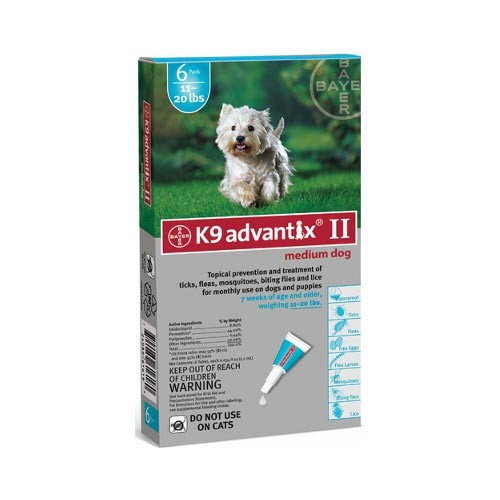Advantix Flea and Tick Control for Dogs 10-22 lbs 6 Month Supply
