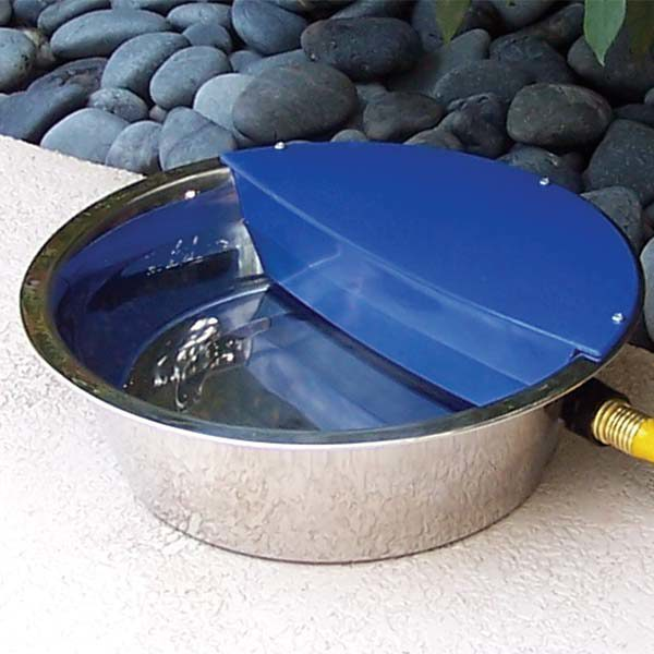 RPI Sir Aqua II Automatic Float Waterer 1.8 gallon Silver / Blue 13.5