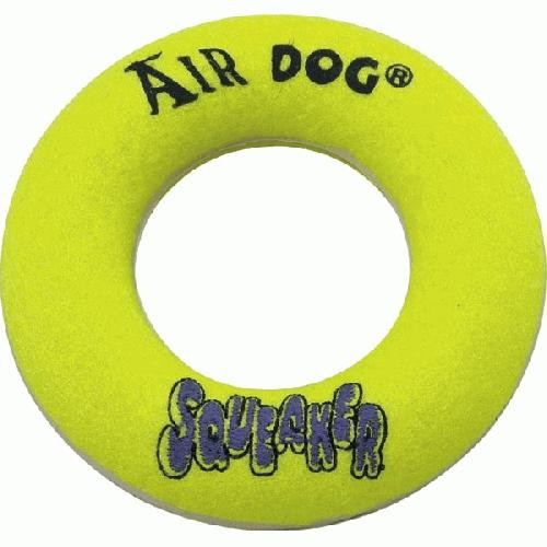 Kong Air Squeaker Donut Dog Toy Large Yellow 10