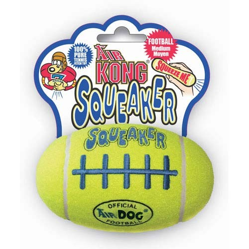 Kong Air Squeaker Football Dog Toy Medium Yellow 5