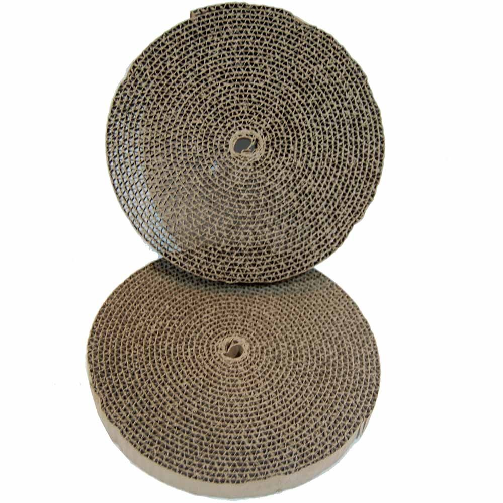 Bergan Cat Turboscratcher Replacement Pad 2 pack Brown 10.25