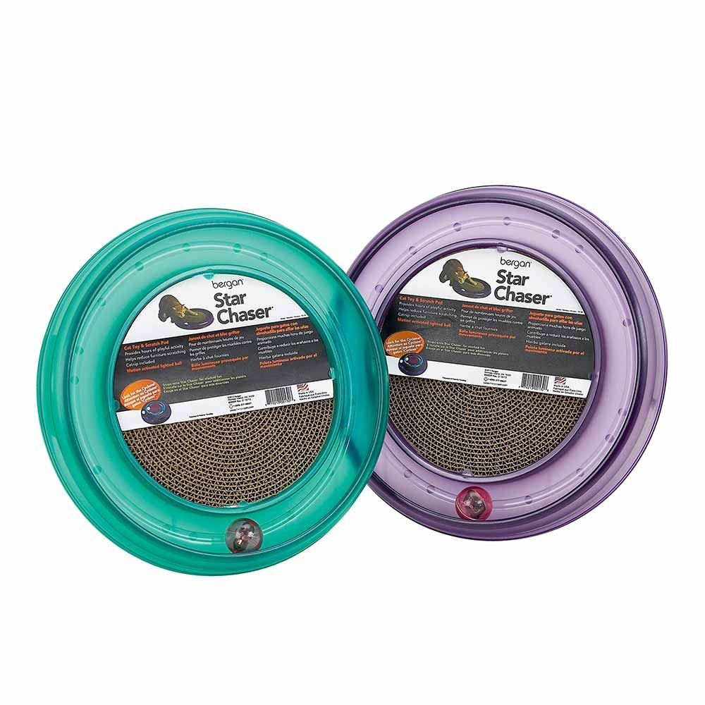 Bergan Starchaser Turboscratcher Cat Toy Assorted 16