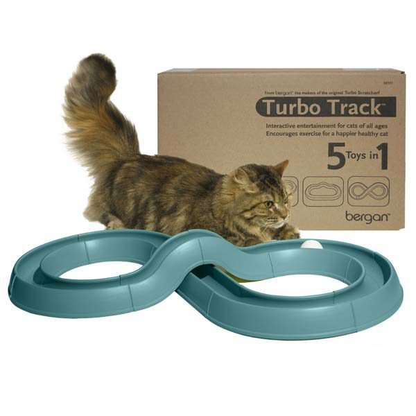 Bergan Turbo Track Cat Toy Green