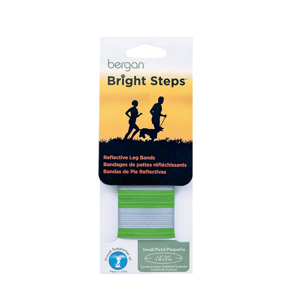 Bergan Bright Steps Reflective Leg Bands Small Green