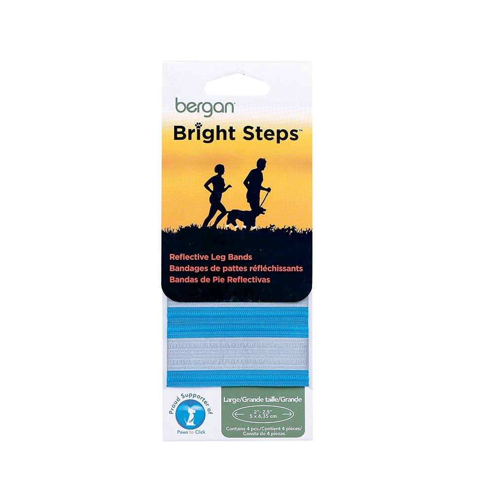 Bergan Bright Steps Reflective Leg Bands Large Blue