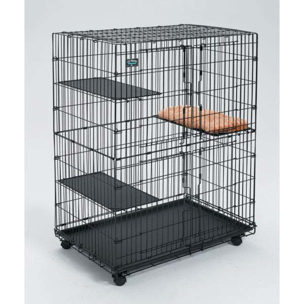 Midwest Collapsible Cat Playpen Black 36
