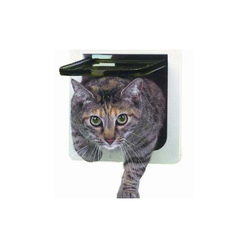 Ideal Lockable Cat Flap Door White 6.25
