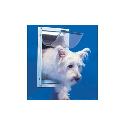 Ideal Deluxe Dog Door Small White 5