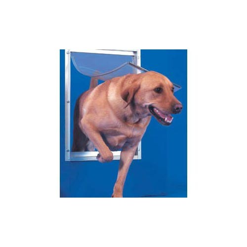 Ideal Deluxe Dog Door Extra Large White 10.5