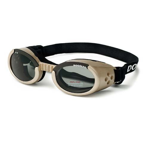Doggles ILS Dog Sunglasses Medium Chrome / Smoke