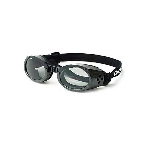 Doggles ILS Dog Sunglasses Extra Small Black / Smoke