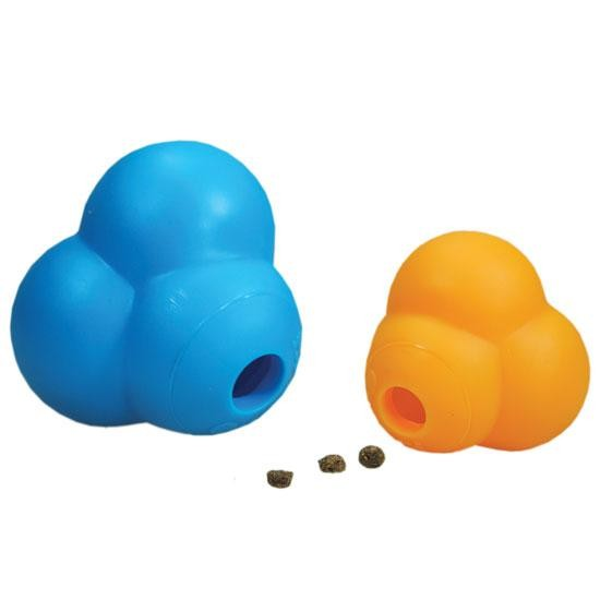 Our Pets Dog Atomic Treat Ball Blue or Orange 3.75