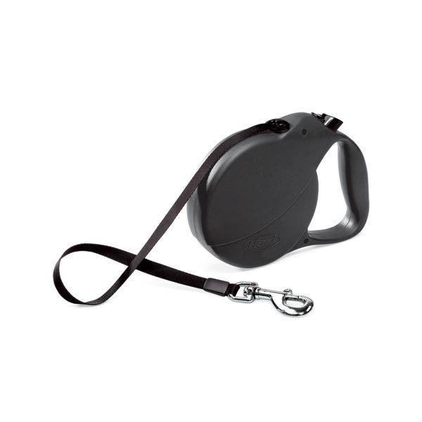 Flexi USA Explore Retractable Tape Leash 26 feet up to 110 lbs. Large Black