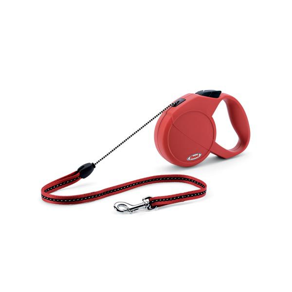 Flexi USA Explore Retractable Cord Leash 23 feet up to 26 lbs. Small Red