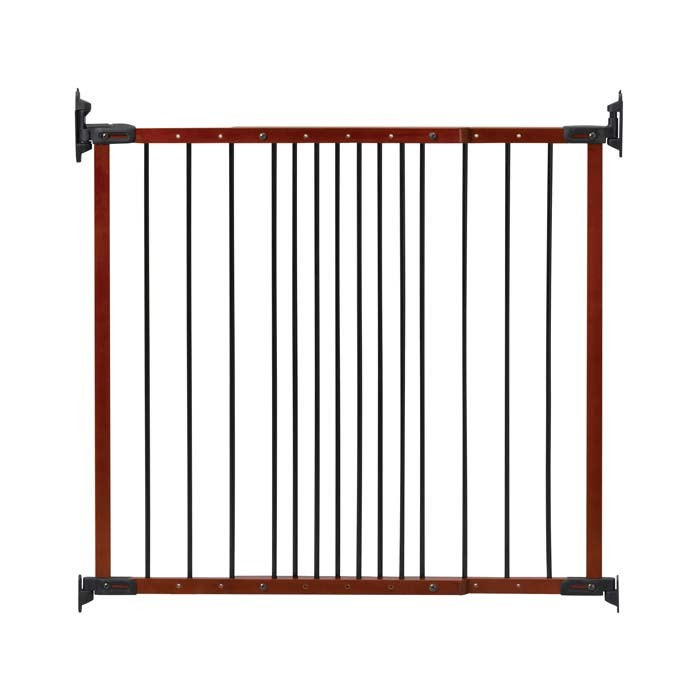 Kidco Designer Angle Mount Wall Mounted Safeway Pet Gate Cherry 28