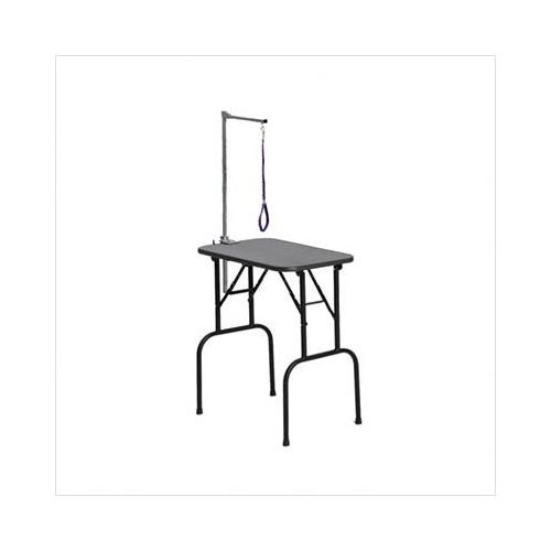 Midwest Plywood Grooming Table with Arm Black 30