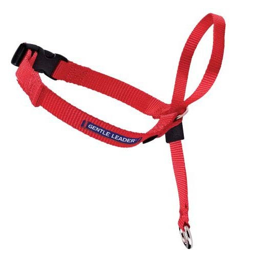 Premier Gentle Leader Quick Release Head Collar Large Red