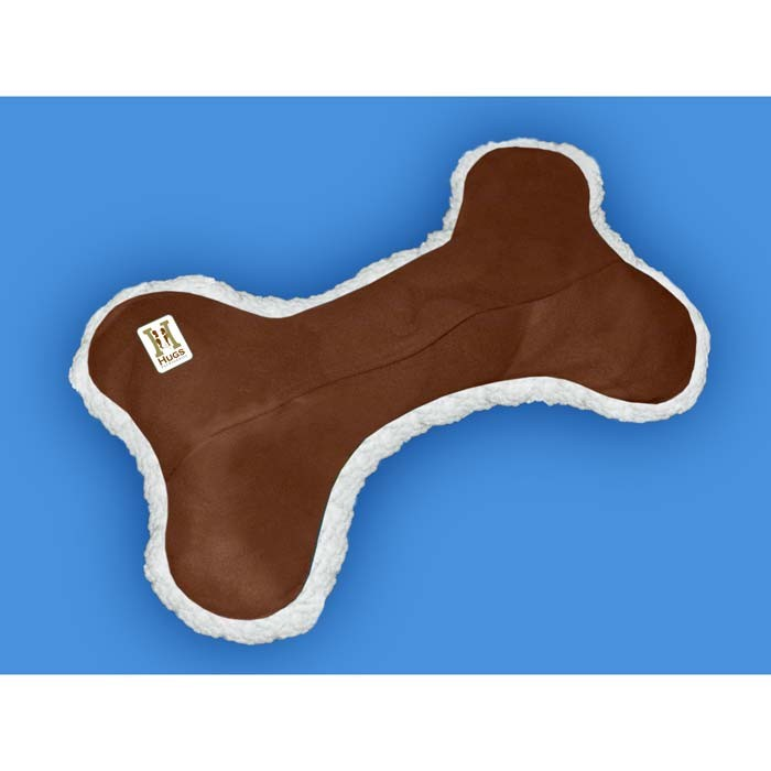 Hugs Pet Products Dog Tee Bone Pillow Brown 9