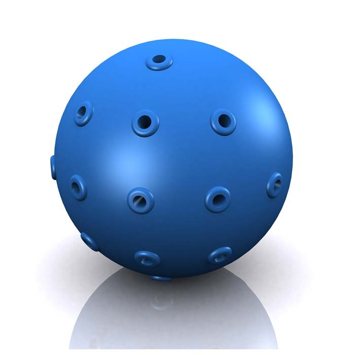 Hugs Pet Products Hydro Dog Ball Toy Blue 2