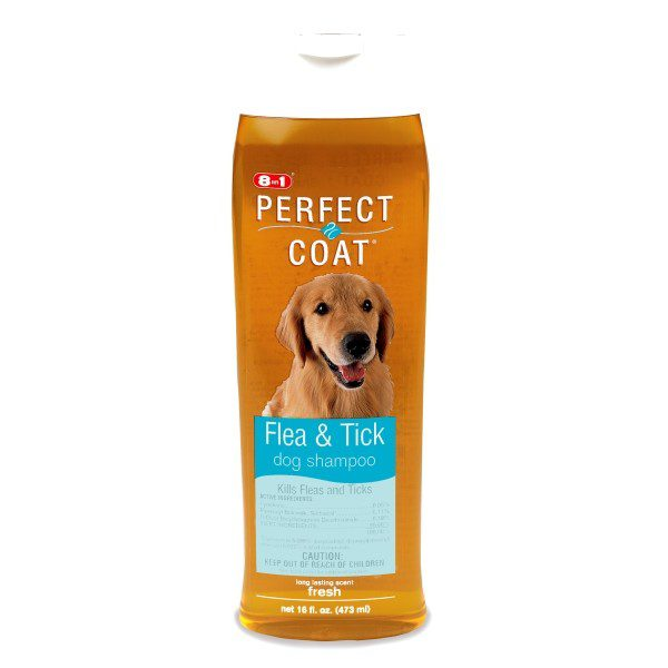 8-in-1 Dog Flea and Tick Shampoo 16 oz