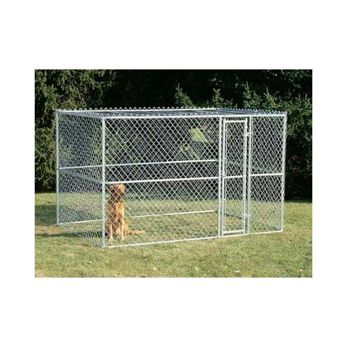 Midwest Chain Link Portable Dog Kennel Silver 120
