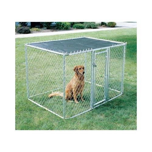 Midwest Chain Link Portable Dog Kennel Silver 72