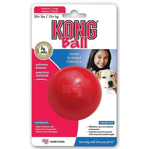 Kong Ball Dog Toy Large Red 7.5