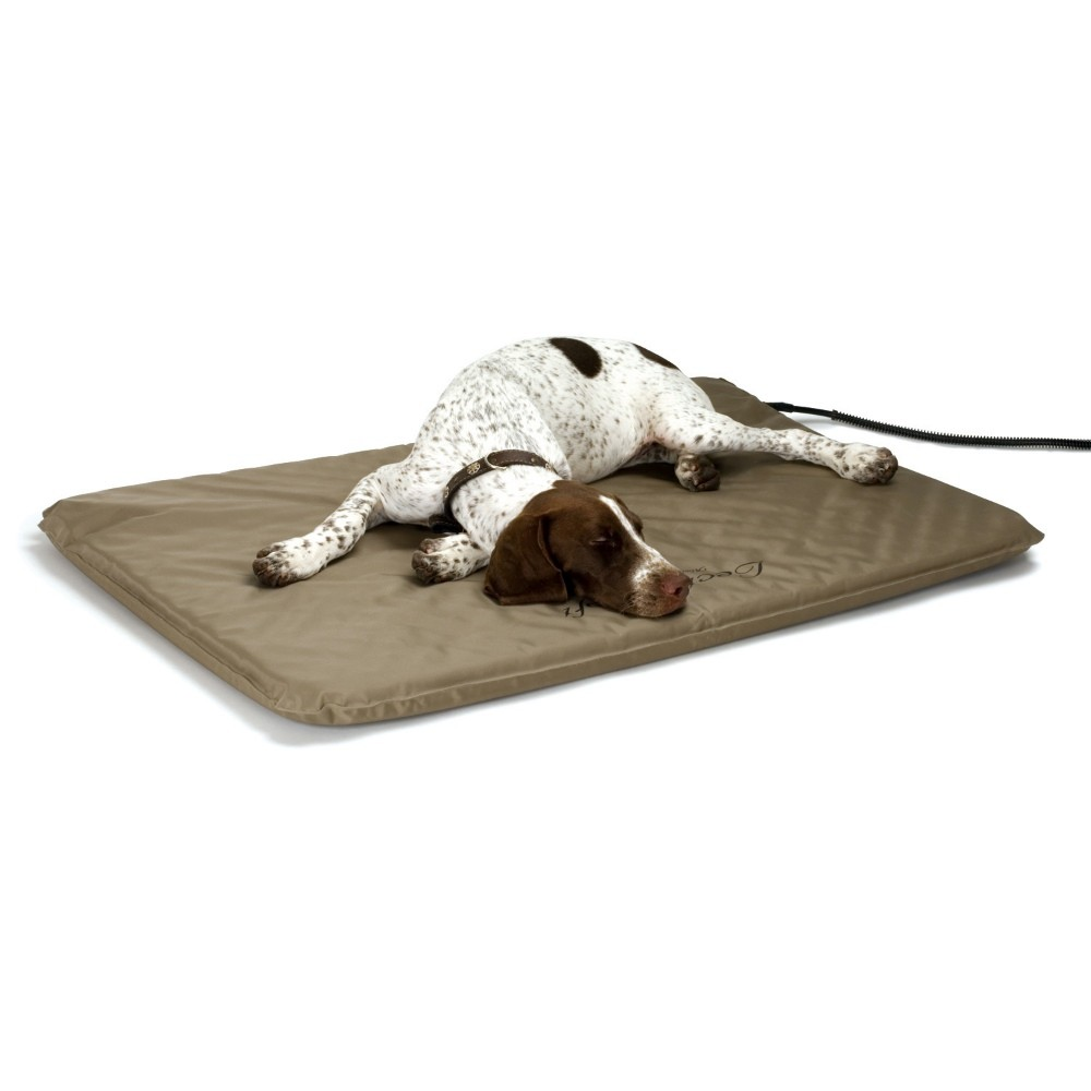 K&H Pet Products Lectro-Soft Heated Outdoor Bed Large Tan 25