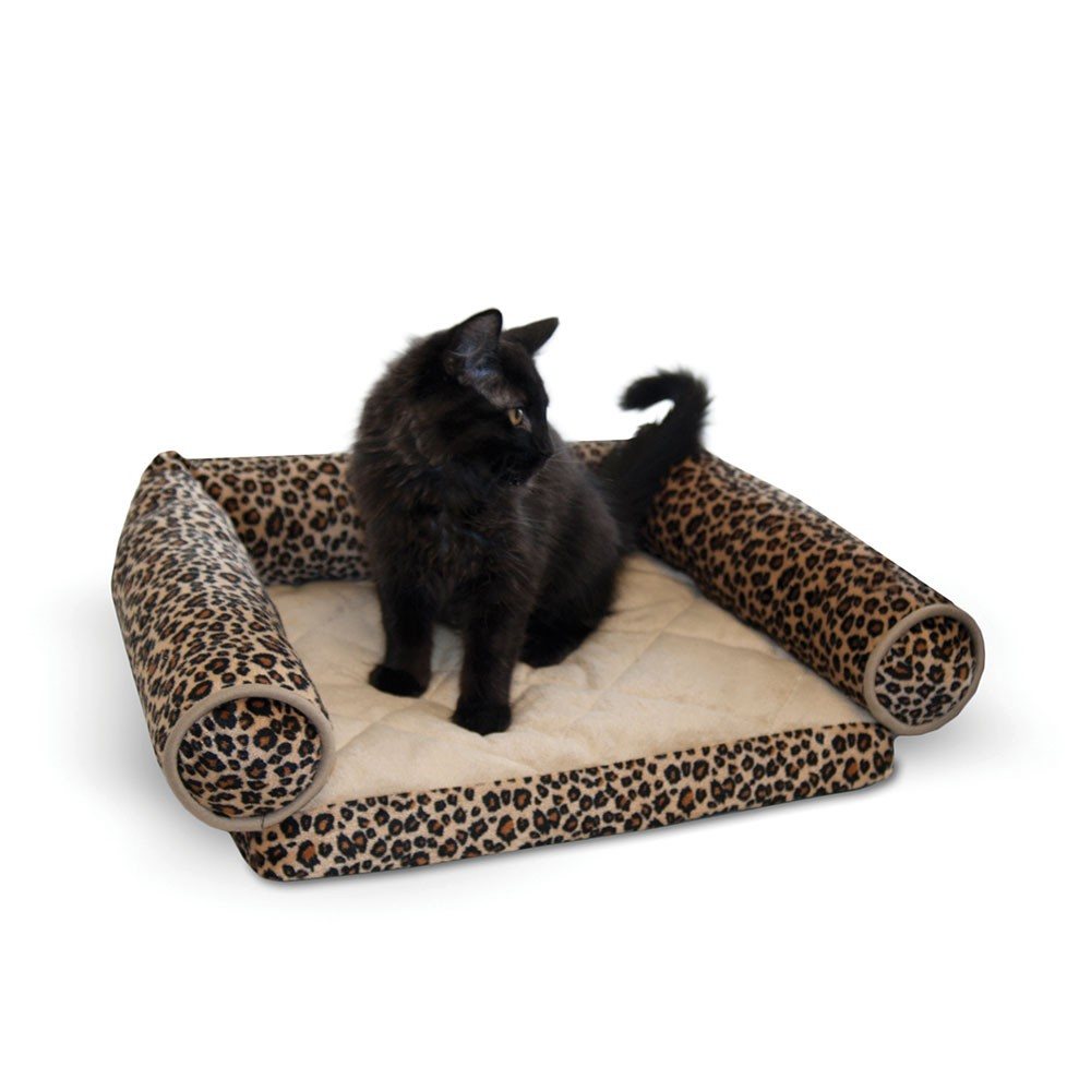 K&H Pet Products Lazy Lounger Cat Bed Leopard 14