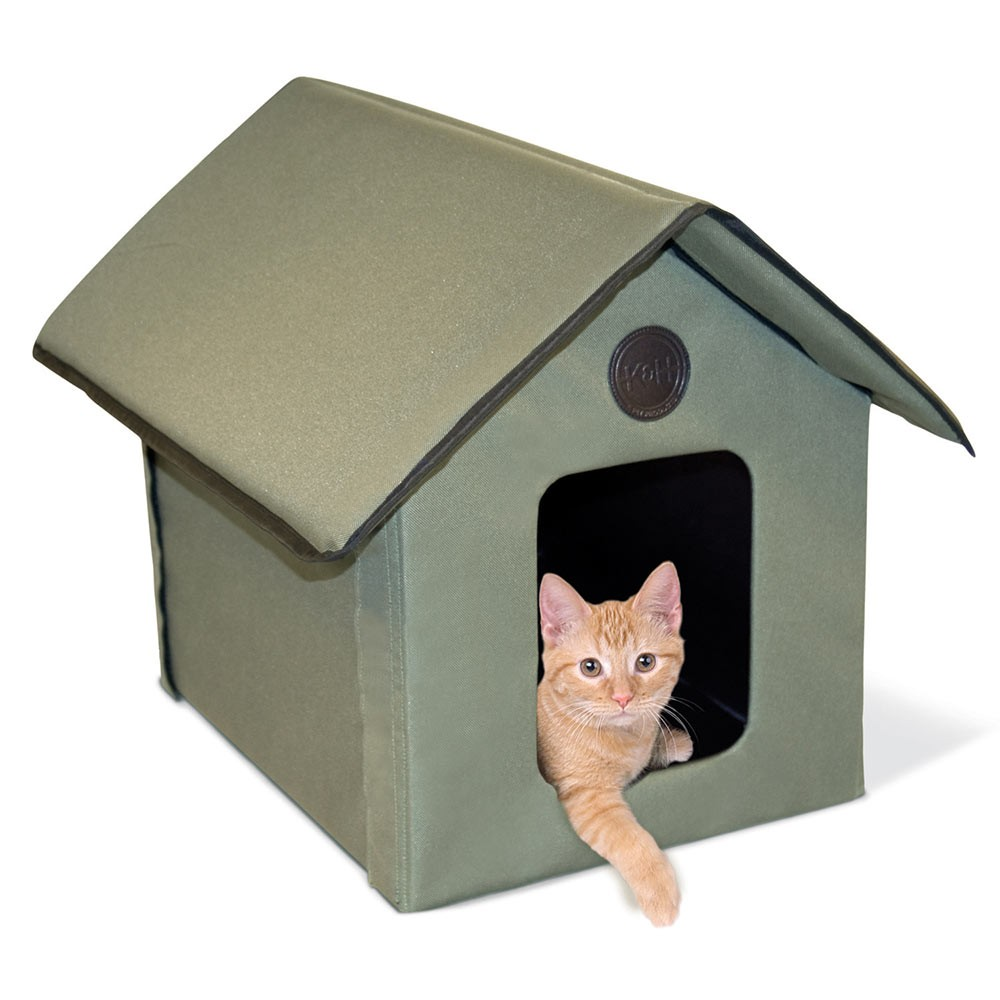 K&H Pet Products Outdoor Kitty House Beige 22