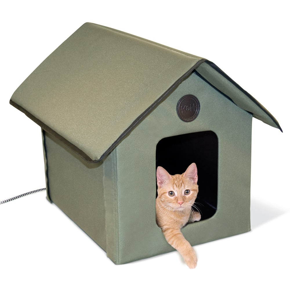 K&H Pet Products Outdoor HEATED Kitty House Beige 22