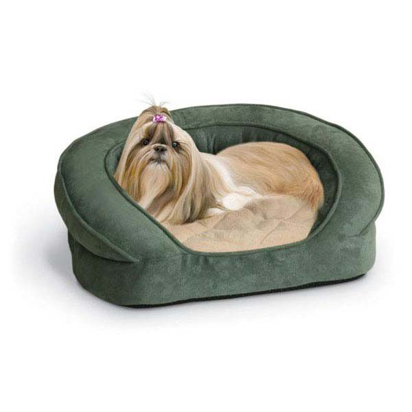 K&H Pet Products Deluxe Ortho Bolster Sleeper Pet Bed Large Eggplant 40