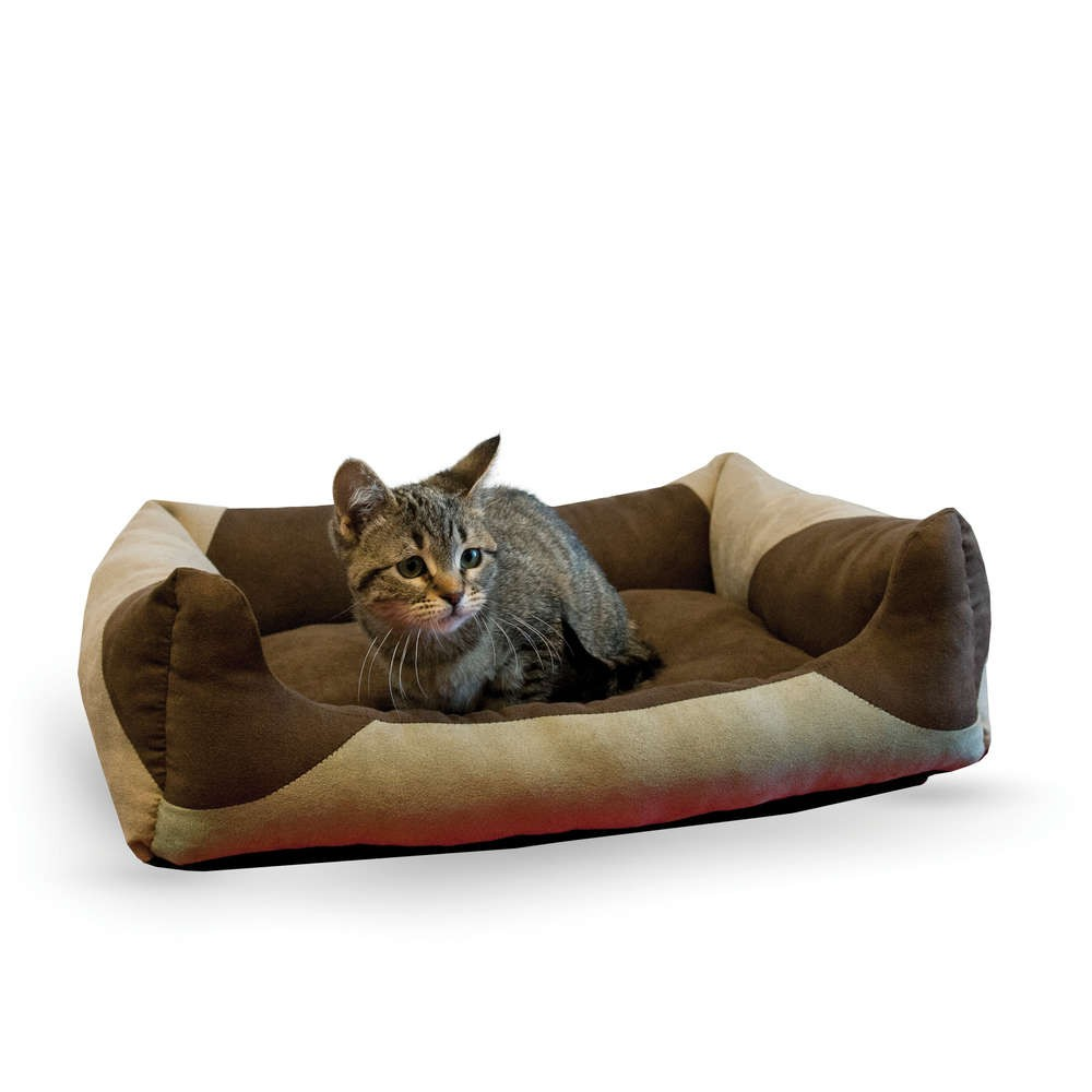 K&H Pet Products Classy Lounger Pet Bed Small Tan / Chocolate 17