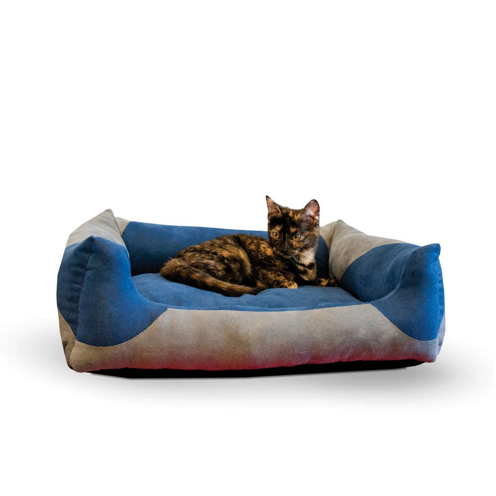 K&H Pet Products Classy Lounger Pet Bed Large Gray / Blue 28