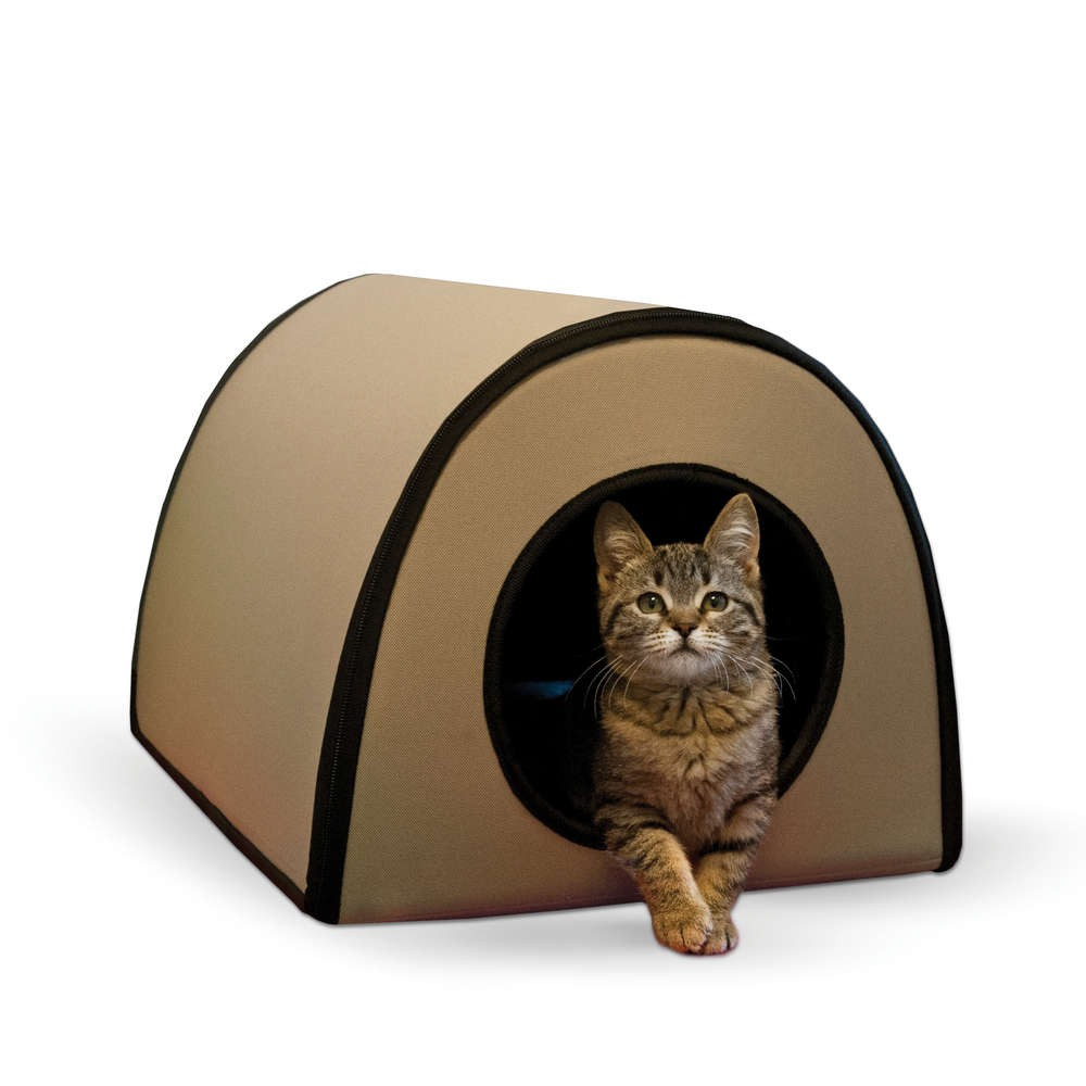 K&H Pet Products Mod Thermo-Kitty Shelter Tan 15