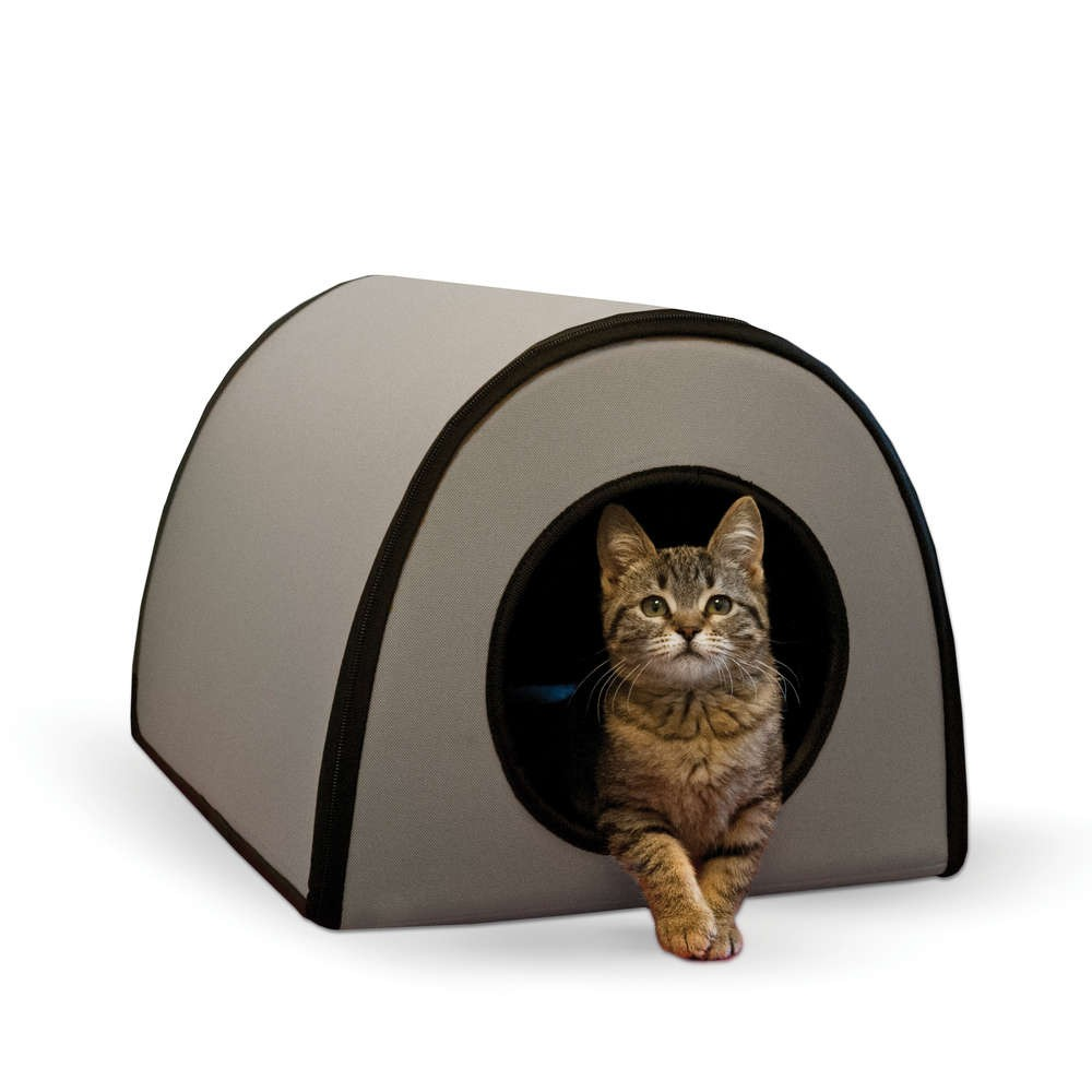 K&H Pet Products Mod Thermo-Kitty Shelter Gray 15