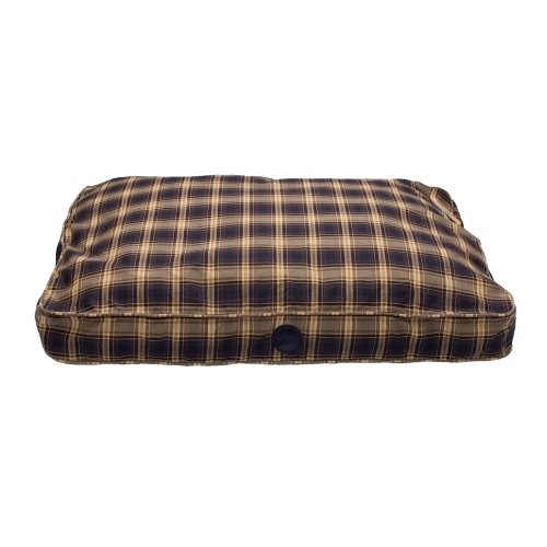 K&H Pet Products Classic Gusseted Pet Bed Medium Plum Plaid 32