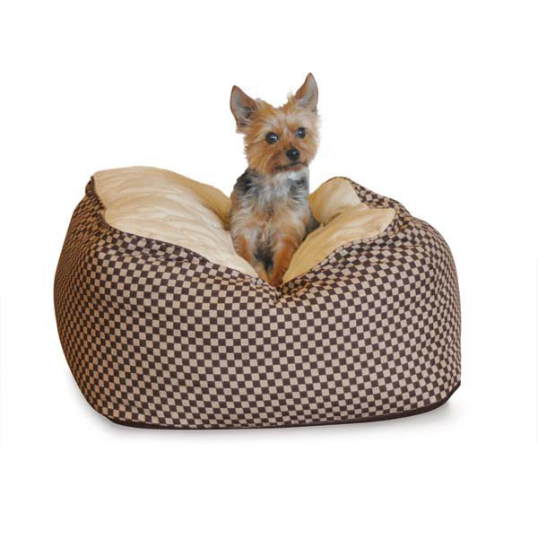 K&H Pet Products Cuddle Cube Pet Bed Large Green 32