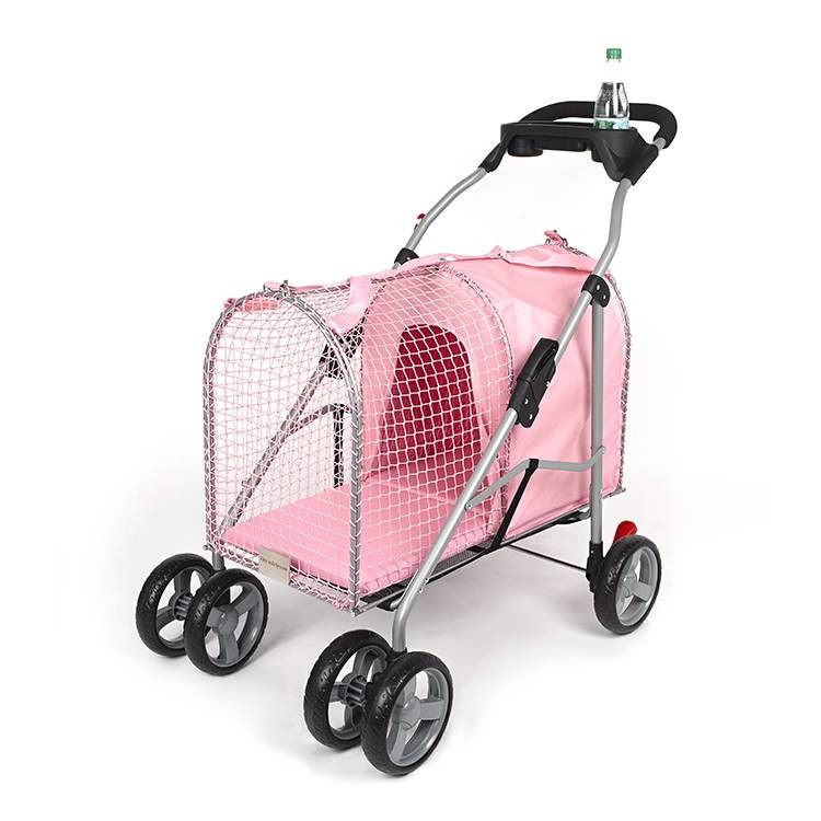 "Kittywalk 5th Ave Pet Stroller  Pink 26"" x 14"" x 35.5"