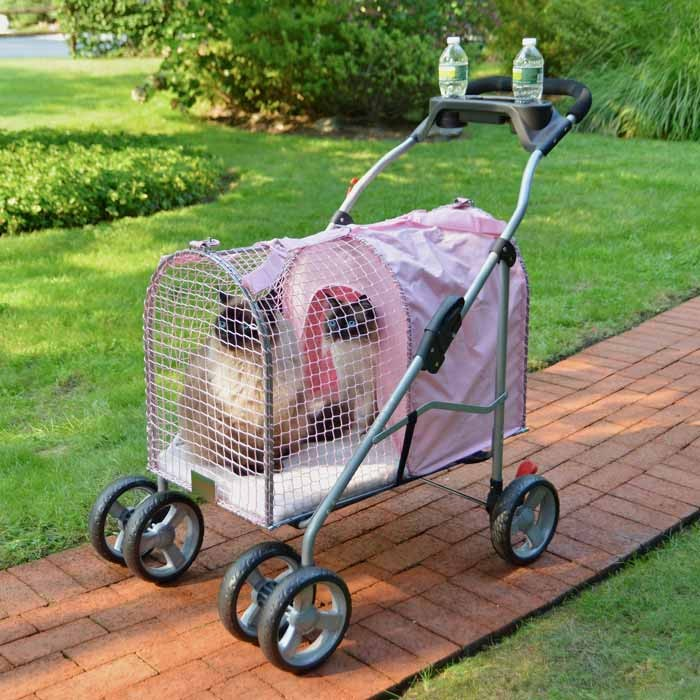 "Kittywalk 5th Ave Pet Stroller SUV Pink 31"" x 16"" x 37.5"