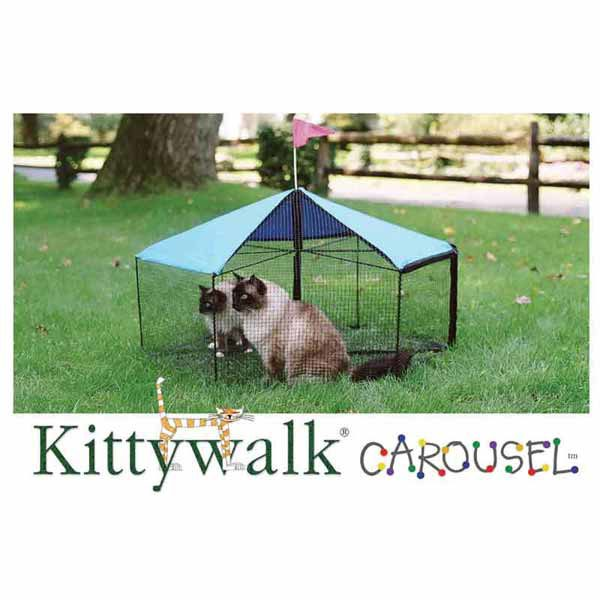 Kittywalk Carousel Outdoor Cat Enclosure Green 48