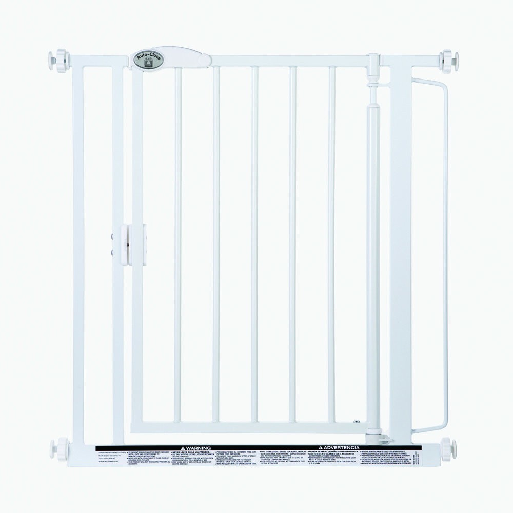 North States Auto-Close Wall Mounted Pet Gate White 29.5