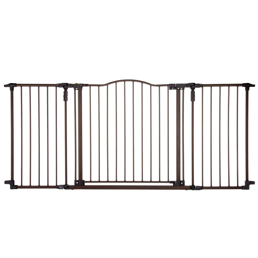 North States Deluxe Décor Wall Mounted Pet Gate Matte Bronze 38.3