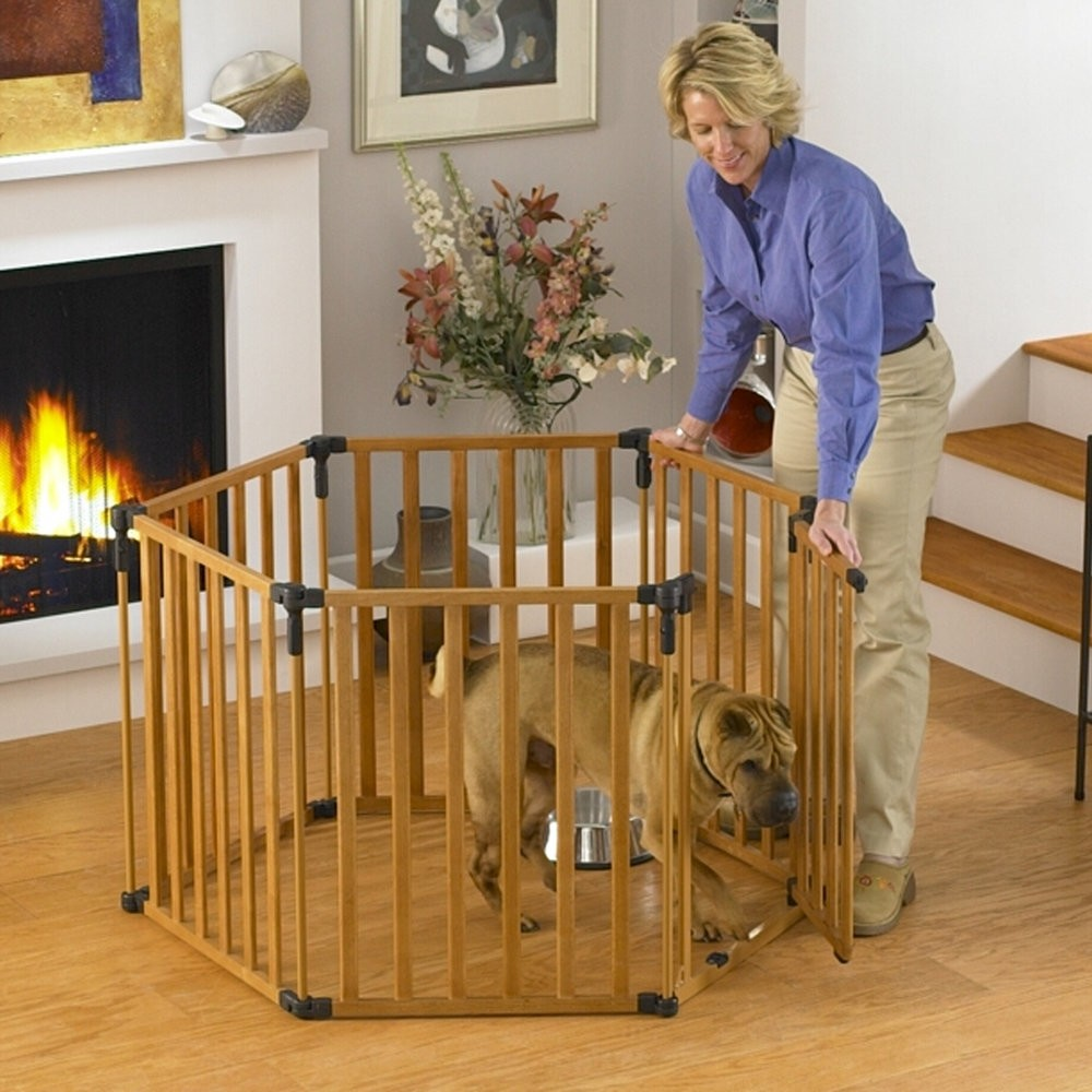 North States 3-in-1 Wood Superyard Pet Pen 6 panel Wood 24