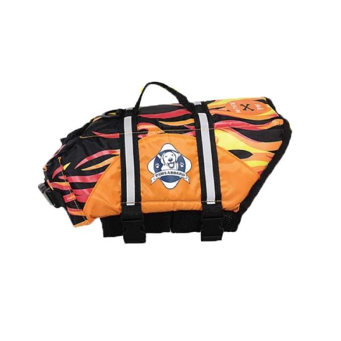 Paws Aboard Dog Life Jacket Medium Flame
