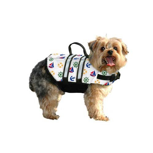Paws Aboard Dog Life Jacket Large Nautical